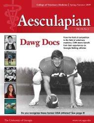 Spring/Summer 2009 Aesculapian magazine - University of Georgia ...