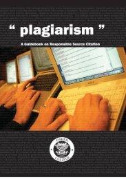 Plagiarism Booklet (pdf) - Fisher College