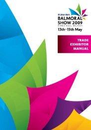 Trade Exhibitor Manual - Balmoral Show
