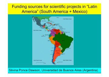 "Funding sources for scientific projects in ""Latin America"" (South ..."