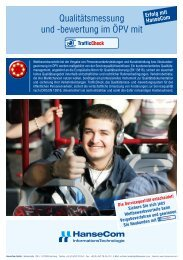 Qualitätsmessung und -bewertung im ÖPV mit - HanseCom GmbH