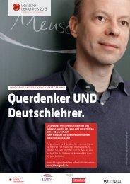 Querdenker UND Deutschlehrer. - Deutscher Lehrerpreis