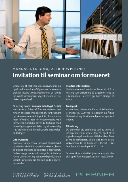 Invitation til seminar om formueret - Plesner