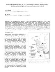 Platinum-Group Minerals in the Early Proterozoic Kuusijärvi ...