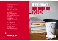 LEKTIECAFÉ FOR UNGE OG VOKSNE - Guldborgsund-bibliotekerne