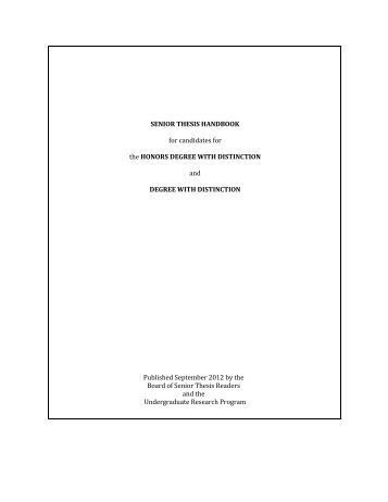 Undergraduate Senior Theses