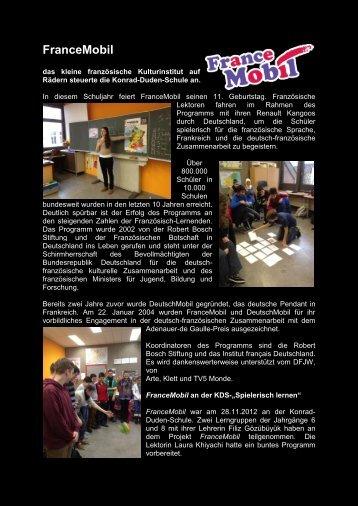 FranceMobil - Konrad-Duden-Schule