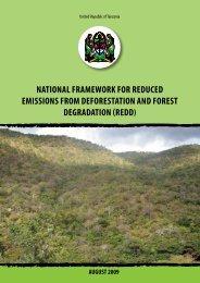 NatioNal Framework For reduced emissioNs ... - The REDD Desk