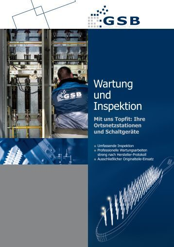 Wartung und Inspektion - GSB mbH & Co. KG