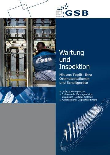 Wartung und Inspektion - GSB mbH & Co. KG