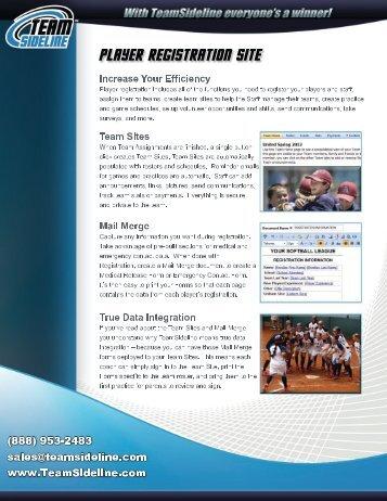 Download Our PDF Brochure - TeamSideline.com