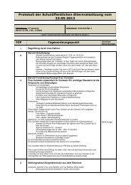 Protokoll der Schulöffentlichen Elternratssitzung vom 23.05.2012