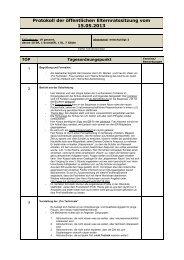 Protokoll der öffentlichen Elternratssitzung vom 15.05.2013