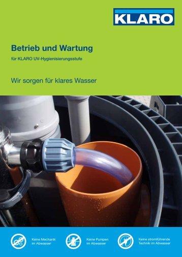 Betrieb und Wartung - KLARO GmbH