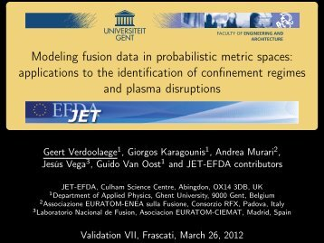 applications to the identification of confinement ... - ENEA - Fusione