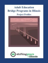 Adult Education Bridge Programs in Illinois: Project Profiles