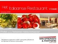 Italiaanse Restaurant in beeld - Van Spronsen en Partners