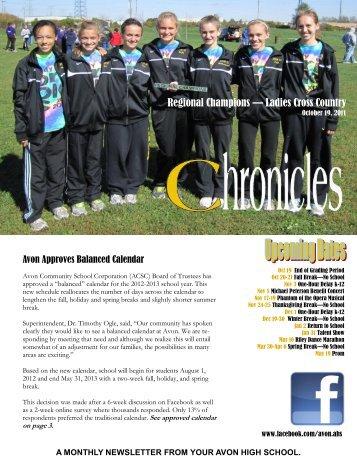 2011.10 Chronicles - Avon Community School Corporation