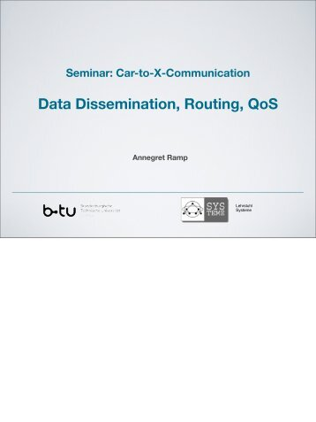Routing/Data Dissemination/QoSSimulation - am Lehrstuhl Systeme