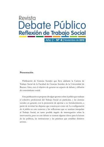 Portada - Carrera de Trabajo Social - Universidad de Buenos Aires