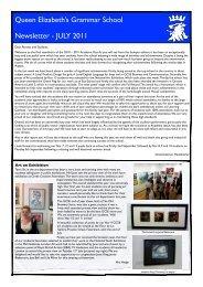 Newsletter July 2011 - Queen Elizabeth's Grammar School