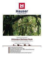Kilimanjaro Machame-Route - Hauser exkursionen