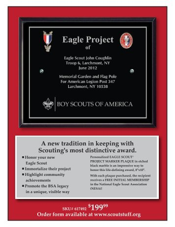 Eagle Scout® PROJECT MARKER PLAQUE - Scoutstuff.org