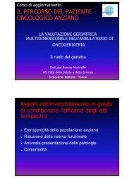 La valutazione geriatrica multidimensionale nell ... - ASL AL