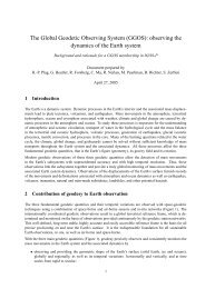 The Global Geodetic Observing System (GGOS): observing the ...