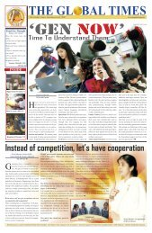 Instead of competition, let's have cooperation - the global times
