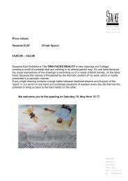Press release Susanne Eybl (Front Space) 10.05.08 – 14.6.08 - Stalke