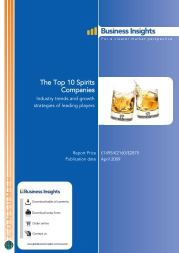 The Top 10 Spirits Companies: Industry trends ...  - Business Insights