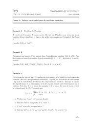 hiver 2005-06 Cours 4 : Valeurs caractéristiques de ... - STAT - EPFL