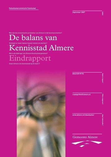 De balans van Kennisstad Almere Eindrapport - Gemeenteraad ...