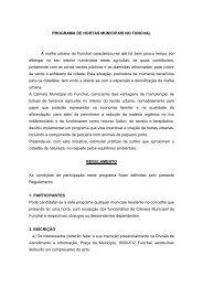 Regulamento Hortas Municipais - Câmara Municipal do Funchal