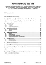Rahmen-Ordnung - Kunstturnen männlich im BTB
