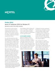 Nortel IP Softphone 2050 - Double Eagle Voice and Data Systems