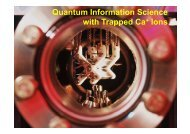 Quantum Information Science with Trapped Ca+ Ions with Trapped ...