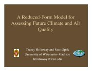 A Reduced-Form Model for Assessing Future Climate and ... - SAGE