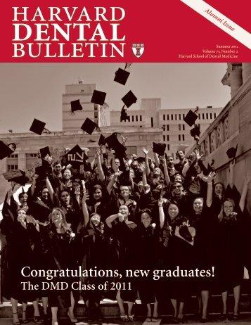 Congratulations, new graduates! - Harvard School of Dental Medicine