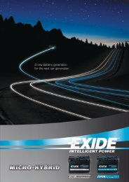 A new battery generation for the next car generation - Exide ...