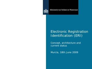 Electronic Registration Identification (ERI) - ANTS