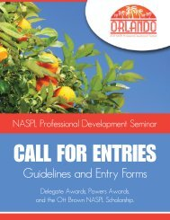 Guidelines and Entry Forms - NASPL