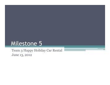 Presentation Milestone 5