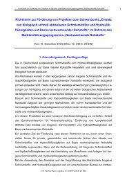 """Richtlinien zur Förderung von Projekten zum Schwerpunkt """"Einsatz ..."""