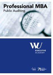 Brochure Professional MBA Public Auditing - WU Executive Academy