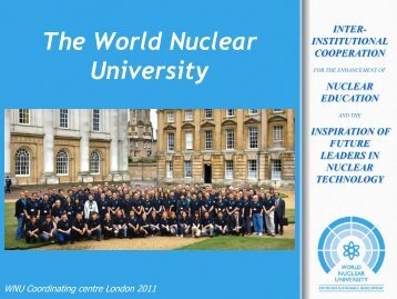 Inter-Institutional cooperation nuclear education and the inspiration ...