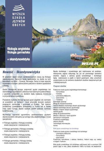 Nowość - Skandynawistyka - Wyższa Szkoła Języków Obcych w ...