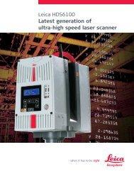 Leica HDS6100 Latest generation of ultra-high speed laser ... - CyArk