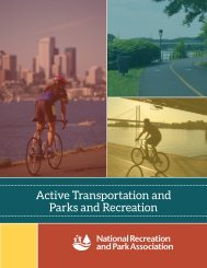 Parks and Recreation: Essential Partners in Active Transportation